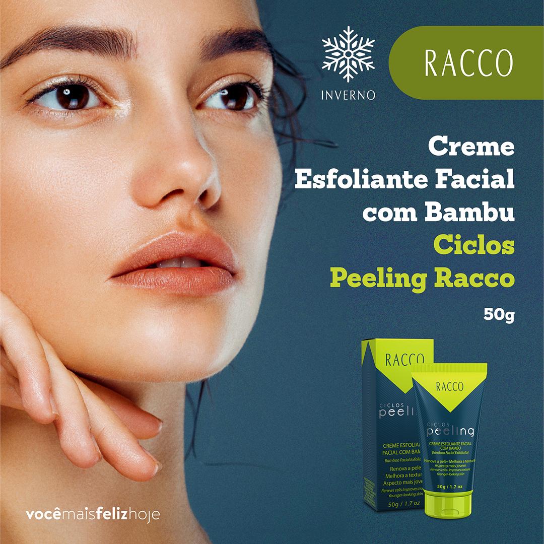 Creme Esfoliante Facial com Bambu Ciclos Peeling Racco