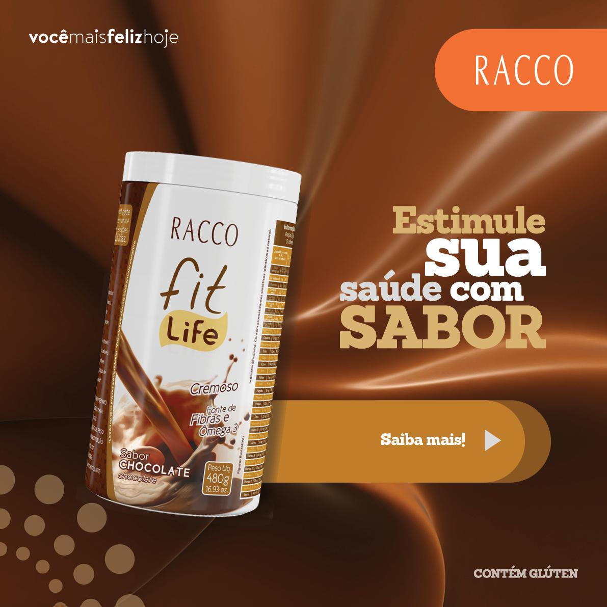 Fit Life Racco: pó para o preparo de bebidas para redução de peso